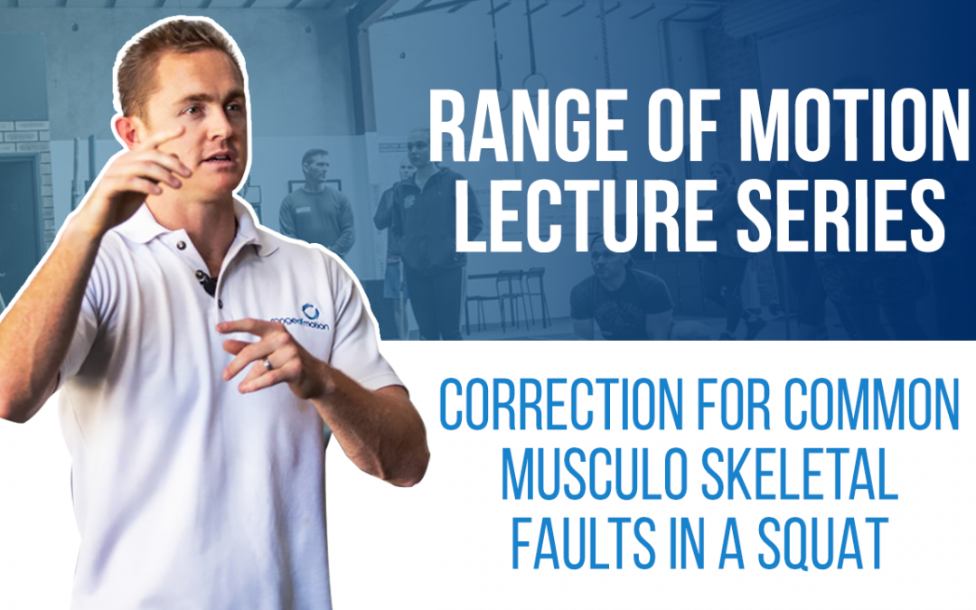 Correction for common musculo skeletal faults in a squat