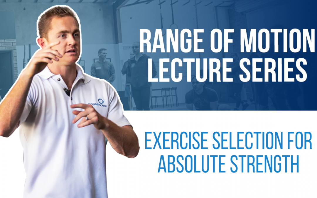 Exercise selection for absolute strength