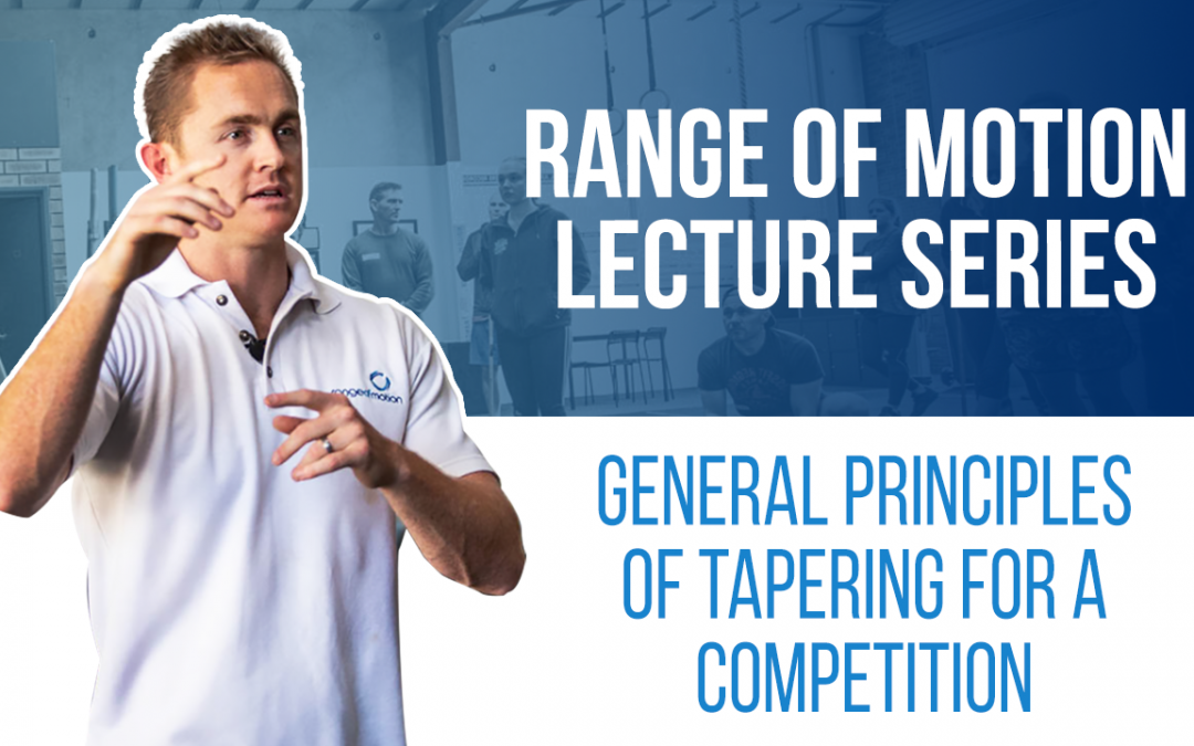 General Principles of Tapering for a Competition