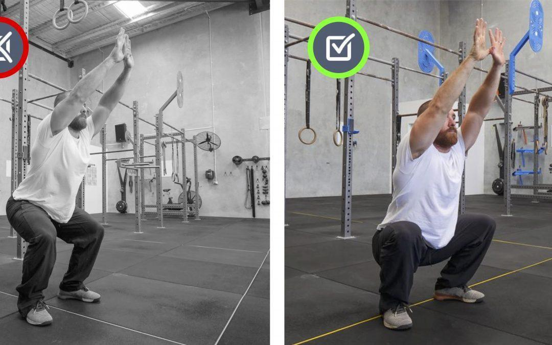 Lack of knee bend. Squat, Jump, Run, Cycle Movement Therapy.