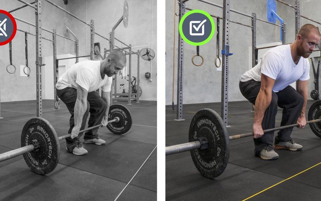 Lower back rounded. Set-up Movement Therapy.