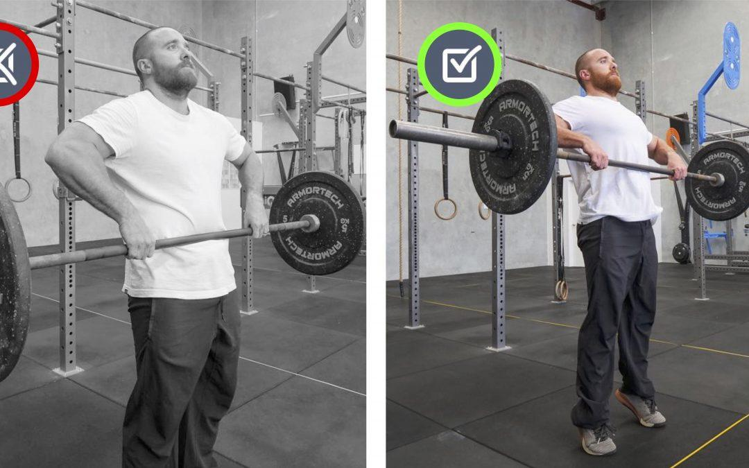 Shoulders rolled forward. Upward Pull Movement Therapy.