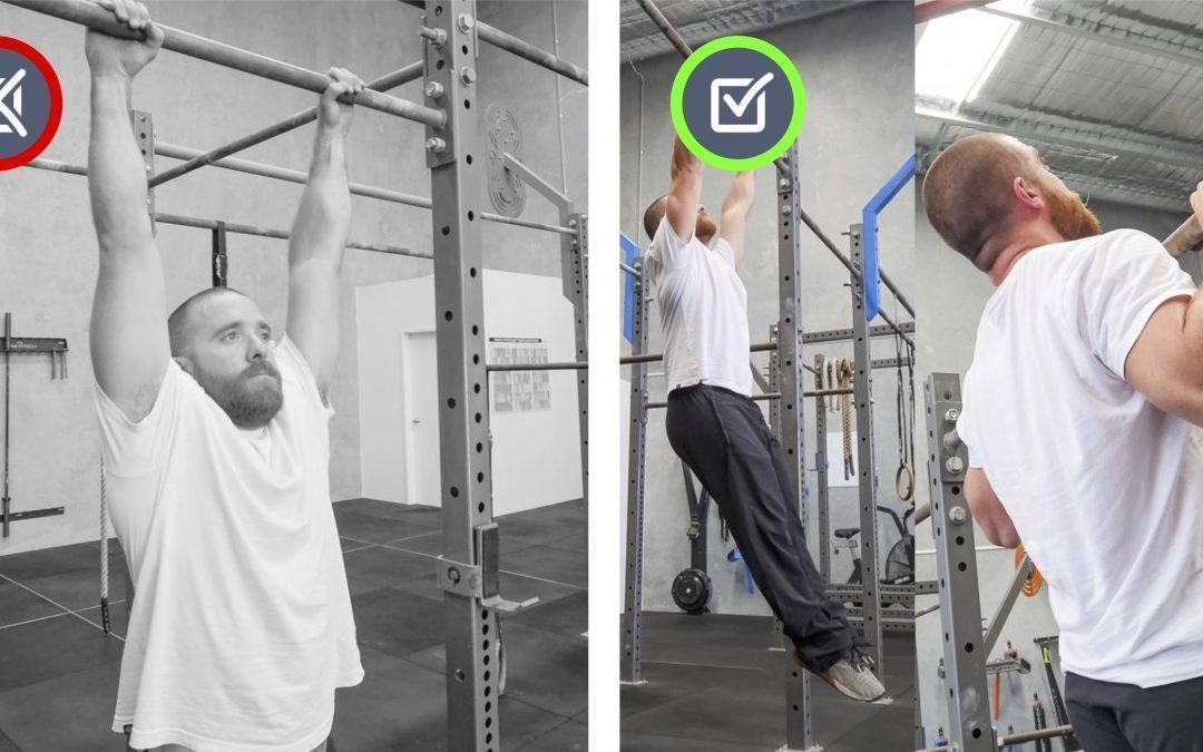 Shoulders shrugged. Pull-up/Hang Movement Therapy.