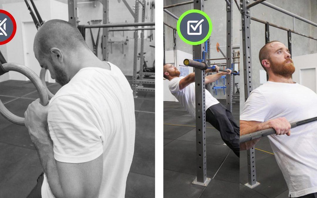 Upper back rounded. Pull In Movement Therapy.