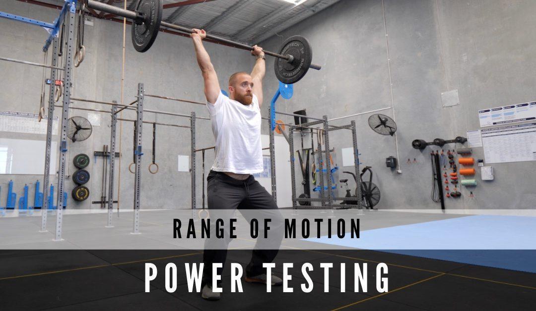 Range of Motion Power Testing