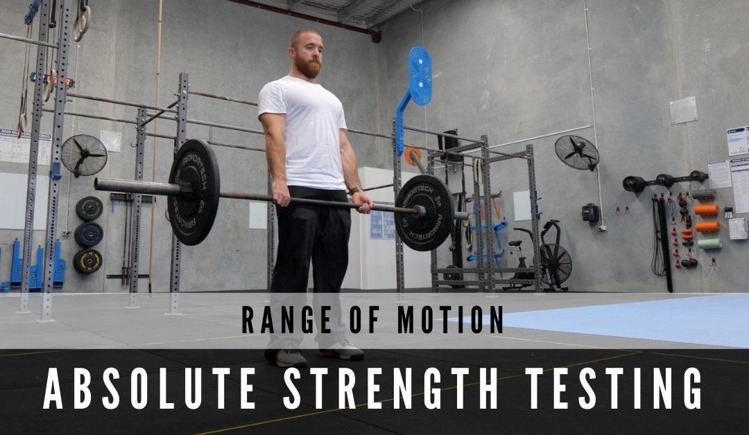 Range of Motion Absolute Strength Testing